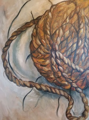 Tangled, Twisted, Torn. Oil on Canvas